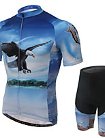 WEST BIKING® Men's Mountain Bike Clothing Suit Breathable Flying Eagle Pattern Wicking Cycling Clothing Short Suit