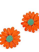 Sweet Daisy Flower Stud Earrings