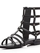 Women's Shoes Faux  Flat Heel Gladiator Sandals Outdoor/Dress/Casual Black