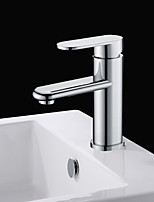Shengbaier Chrome Finish Solid Brass Bathroom Sink Faucet