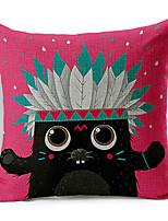 Modern Style Cartoon Animal Cotton/Linen Decorative Pillow Cover