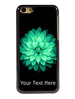 Personalized Gift Beautiful Flower Design Aluminum Hard Case for iPhone 5C
