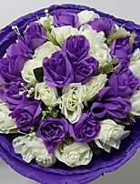 Bouquets ( Pourpre/Multicolore , Satin ) Roses