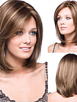 Women's Capless Top Grade Synthetic Mixed Colour Short Straight Bob Full Wig
