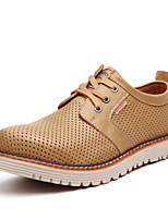 Men's Shoes Casual Leather Oxfords Brown/Tan