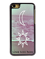 Personalized Gift The Moon and The Sun Design Aluminum Hard Case for iPhone 5C