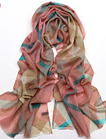 Women's Fashion 100% Wool Lattice Printed Scarf