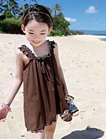 Beach Girls Flounced Korean A-line Dress