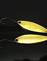 B.J.F® Metal Spoons 3.2g/6pcs/36mm Golden Fishing Lures