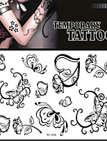 Tattoo Stickers Non Toxic/Pattern/Lower Back/Waterproof Others Adult/Teen Red Paper 1 17*16 Rose Heart