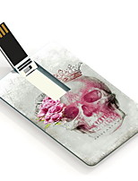 64GB Skull and Rose Design Card USB Flash Drive