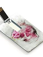 64gb cráneo y rosa tarjeta de unidad flash USB de diseño