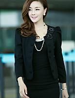 Women's Pink/Red/White/Black Blazer , Casual Long Sleeve