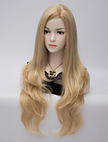 New Female Long Wave Synthetic Wig Womens' Neat Bang Hair High Quality synthetic Wigs