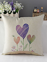 Country Style Romantic Girl Cotton/Linen Decorative Pillow Cover