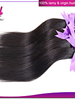 3pcs del pelo humano de Remy del indio del pelo recto tejer ningún color negro natural maraña