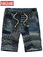 Men's Casual/Plus Sizes Print Shorts Pants (Linen)KB6B04