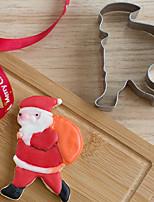 Natale padre Santa con stampi di forma pacchetto formine per biscotti frutta tagliata in acciaio inox