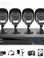 SANNCE 8CH AHD-L DVR w/ eCloud HDMI 1080P/VGA/BNC Output  4pcs 800TVL CMOS 42LEDS Day/Night IR-cut Cameras IP66(1TB HDD)