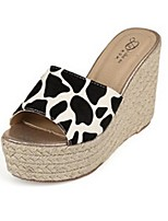 Women's Shoes Platform Sandals Black/White