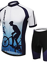 WEST BIKING® Men's Mountain Bike Clothing Suit Breathable Biking Wicking Cycling Clothing Short Suit