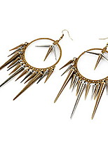 Punk Style Cone Bullet Pattern Earrings(Bronze)