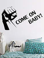 Wall Stickers Wall Decals , Come On PVC Wall Stickers