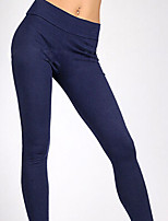 Women Solid Color Legging , Cotton Medium