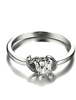 Sjeweler Ladies New Style Platinum Plating Zircon Bridal Ring
