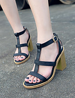 Women's Shoes  Chunky Heel Heels/Gladiator Sandals Casual Black/White
