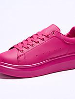 Scarpe Donna Finta pelle Piatto Punta arrotondata Sneakers alla moda Casual Nero/Rosa/Bianco