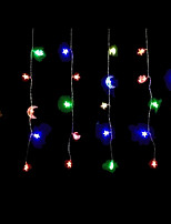 4W 2 Meter x 0.6 Meter 50pcs Bulb LED Modeling String CurtainLights Moon&Star, RGB Color