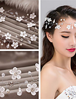 White Lace Flower Pearl Headbands for Wedding/Party Headpiece