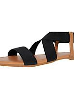 Damenschuhe Gewebe flacher Absatz Slingback / rund Spitze Sandalen Kleid / casual mehr Farben erhältlich