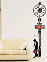 Modern Style DIY Romantic Street Mute Wall Clock