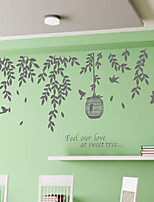 Wall Stickers Wall Decals, Modern Cage bird branch PVC Wall Stickers