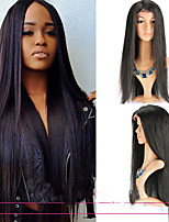 Brazilian Lace Front Wigs Straight Virgin Hair Four Color Glueless Straight Human Hair Wigs For Women