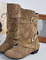 Women's Shoes Low Heel Fashion Boots Boots Office & Career/Dress/Casual Black/Brown
