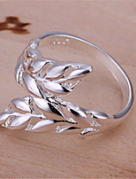Retro National Style Wheat Ring(Silver)(1Pc)