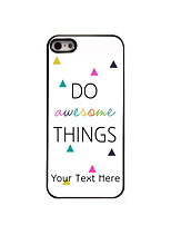 Personalized Gift Do Awesome Things Design Aluminum Hard Case for iPhone 4/4S
