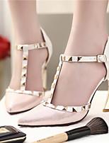 Women's Shoes Synthetic Stiletto Heel Heels/Basic Pump Pumps/Heels Office & Career/Dress/Casual Black/Pink/Beige