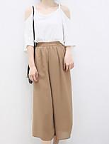 Women's Solid White/Black T-shirt , Off Shoulder ½ Length Sleeve