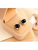 Love Is Your Lovely Smile Black Cat High-grade Fine Diamond Stud Earrings