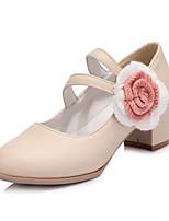 Girls' Shoes Casual Heels/Round Toe  Pumps/Heels Blue/Purple/Beige