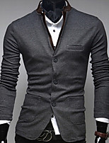 Men's Long Sleeve Regular Blazer , Others Pure