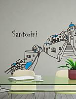 Wall Stickers Wall Decals, Modern Santorini island building PVC Wall Stickers