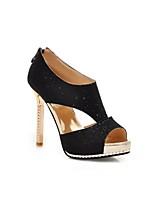 Women's Shoes Faux Stiletto Heel Peep Toe Pumps/Heels Office & Career/Dress/Casual Black/Yellow/White