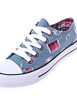 Zapatos de mujer Tela Plataforma Comfort/Punta Redonda Sneakers a la Moda Casual Azul/Azul Marino
