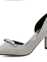 Women's Shoes Kitten Heel Comfort Pumps/Heels Casual Black/Gray
