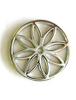 Birthday Gift Girl's 33mm Alloy Mi Moneda Silver Flower Coin for 33mm Coin Holder Pendant